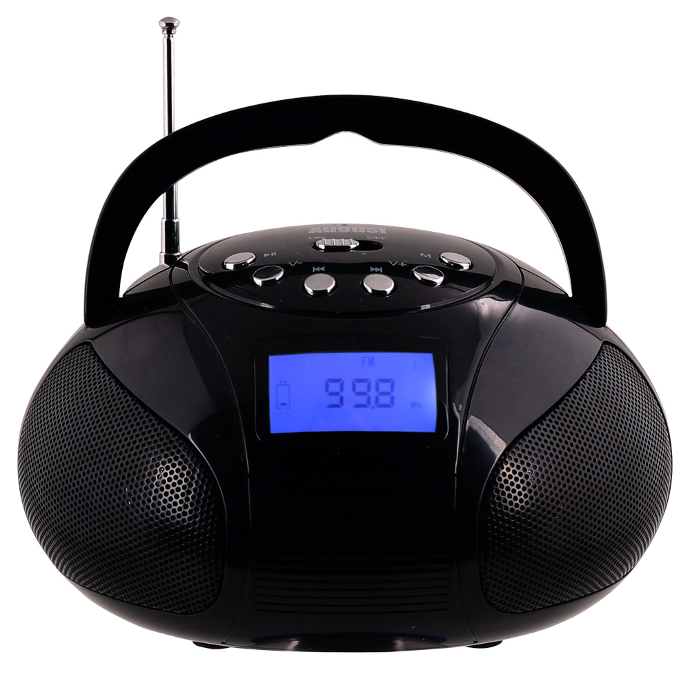 August SE20 - Mini Bluetooth Radio-Wecker - Schwarz