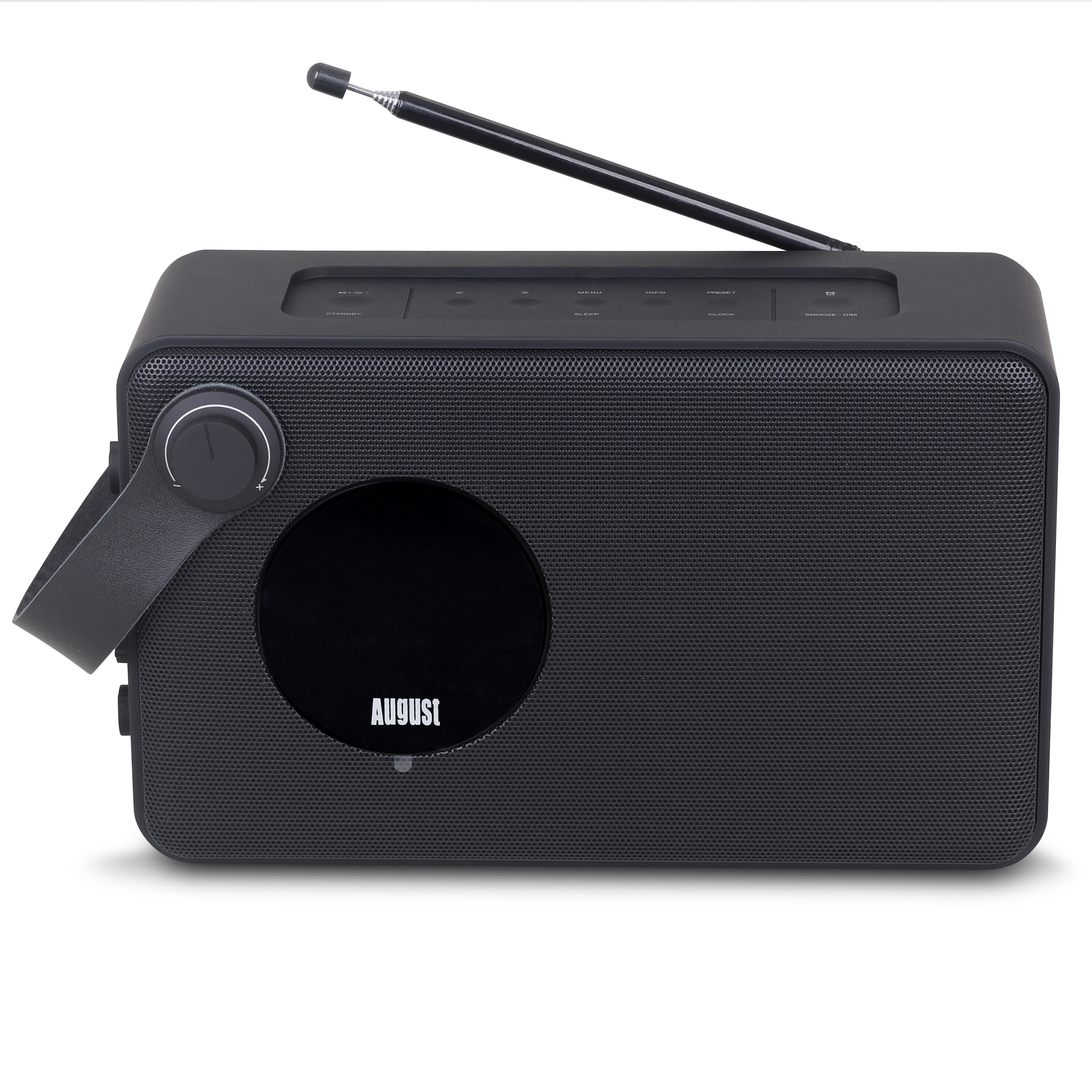 DAB Clock Radio with NFC Bluetooth Speaker - Black