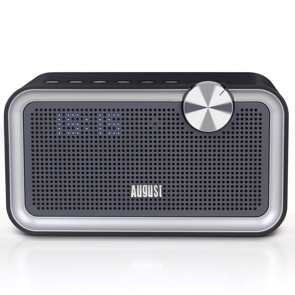 August SE55 - 2x10W Bluetooth Lautsprecher mit EQ, FM Radio