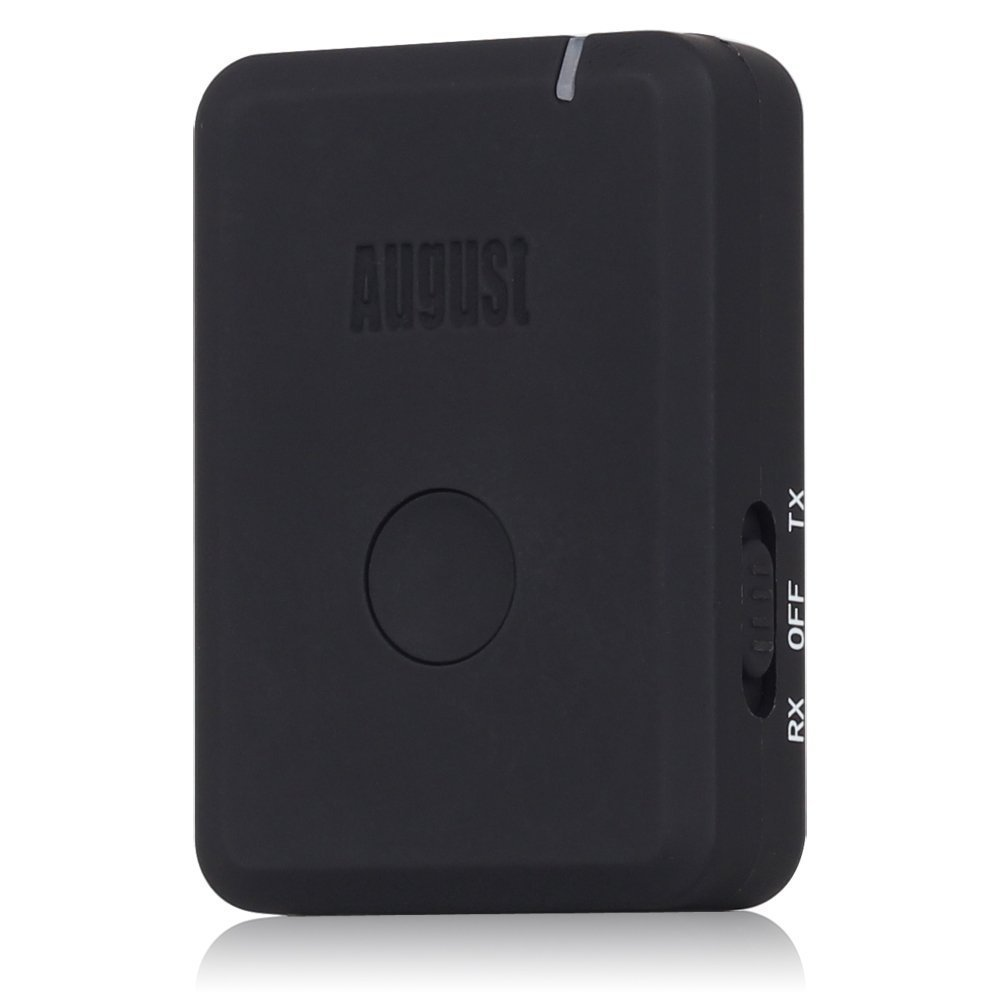 August MR260 Transmisor Receptor Bluetooth 2 en 1 – Receptor y Transmisor de Audio Estéreo Bluetooth