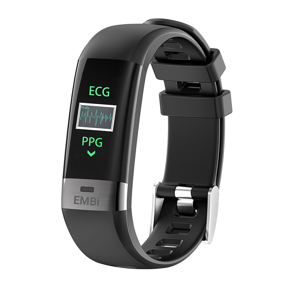 Audar Heart Rate and Blood Pressure Monitor smart wristband EMBi - IP67 Waterproof Smart Bracelet Wristband Heart Rate Sleep Monitor Stopwatch Call SMS Reminder For Women Men Kids